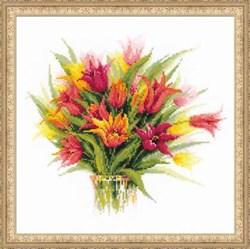 Набор для вышивания  Тюльпаны в вазе - фото 13419