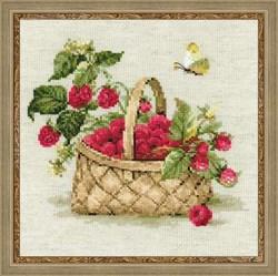 Набор для вышивания  Малина в лукошке - фото 13433