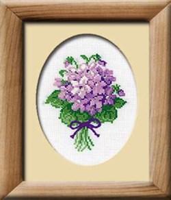Набор для вышивания  Фиалки - фото 13451