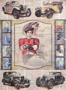 Рисовая бумага для декупажа  Автоледи - фото 13645