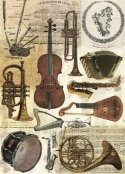 Рисовая бумага для декупажа  Музыкальные инструменты - фото 13651