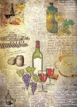 Рисовая бумага для декупажа  Карта вин - фото 13653