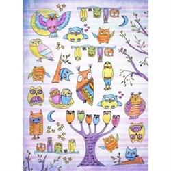 Рисовая бумага для декупажа  Веселые совы - фото 13672