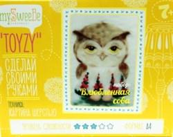 Набор Toyzy картина шерстью  Влюбленная сова - фото 13744