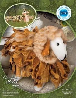 Набор из ткани РТО  Овечка лохматая с шерстью из ткани и шерсти - фото 14522