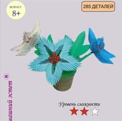 Модульное оригами Зимние цветы - фото 14639