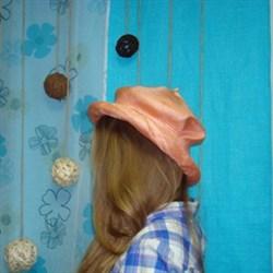 Шляпка соломенная розовая 52 размер - фото 14833