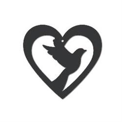 Акриловая форма Голубь в сердце - фото 14842