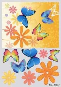 Декупажная карта 3D  Яркие бабочки - фото 14849
