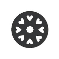 Акриловая форма Колесо с сердцами - фото 14872