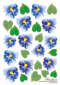 Термопленка Синие цветы - фото 14905