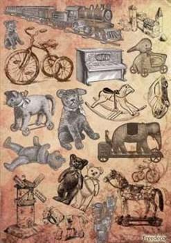 Скрап-карта  Старые игрушки - фото 15452