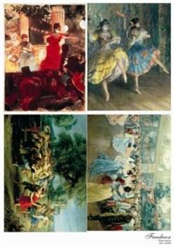 Декупажная карта  Танец - фото 15562