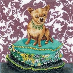 Набор для вышивания  Интерьерные собачки - Чихуахуа рыжий - фото 16150