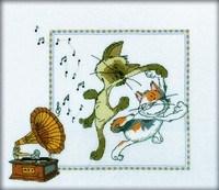 Набор для вышивания  Кошачий вальс - фото 16151