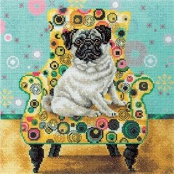 Набор для вышивания  Интерьерные собачки - Мопс - фото 16153