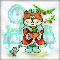 Набор для вышивания  Кошка с птичкой (НГ) - фото 16172