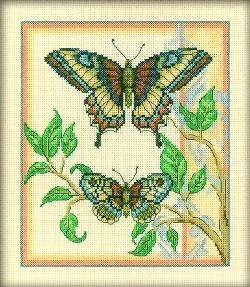 Набор для вышивания  Тандем бабочек - фото 16183
