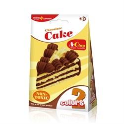 Легкий пластилин в наборе мини-сумочке  Торт Шоколадный - фото 16235