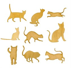 Силуэты кошек - фото 16534