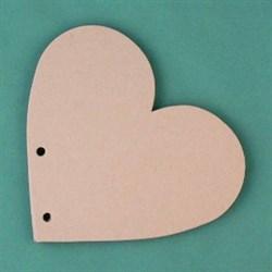 Заготовка для фотоальбома  Сердце малое  без колец - фото 16648