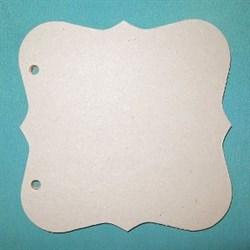 Заготовка для фотоальбома  Фигурный квадрат  малый без колец - фото 16652