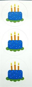 Наклейки  Праздник  Торт со свечками - фото 17254