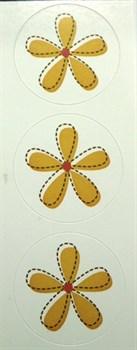 Наклейки  Цветы  Желтые цветы - фото 17255