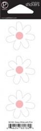 Наклейки  Цветы  Ромашки с розовыми сердцевинами - фото 17263