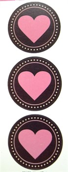 Наклейки  Любовь  Сердечки в кругах - фото 17264