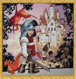 Схема  Маленький рыцарь  (Petit Chevalier) - фото 17582