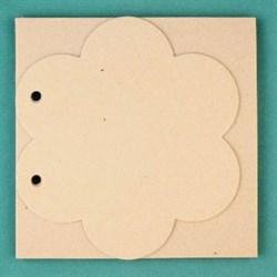 Заготовка для фотоальбома  Цветок в квадрате  без колец - фото 17682