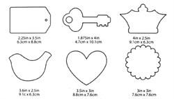 Акриловые формы для украшений Mod Podge фигурные - фото 18449