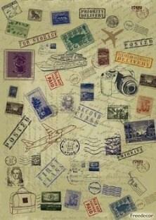 Декупажная карта  Марки - фото 18529