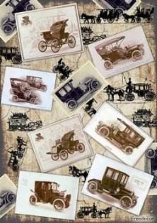 Декупажная карта  Ретро-автомобили - фото 18530