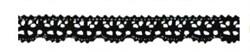 Кружевная лента на клеевой основе Черная 12мм - фото 18949