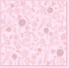 Оверлей лист  EMBROIDERY pink - фото 19198