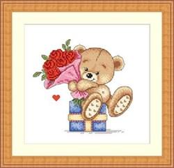 Набор для вышивания  Алые розы - фото 20048