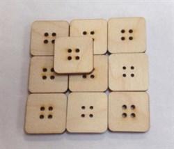 Набор квадратных пуговиц, 10 шт. - фото 21313