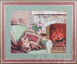 Набор для вышивания  Кошкин дом . Производитель  Ажур - фото 22137