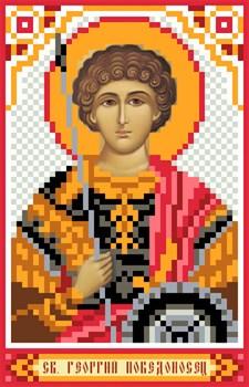 Рисунок на шелке  Св. Георгий Победоносец - фото 22206