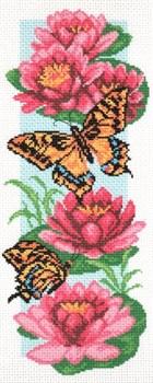 Рисунок на канве  Бабочки и нимфеи - фото 22554