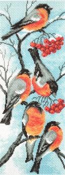 Рисунок на канве  Снегири - фото 22555