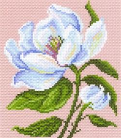 Рисунок на канве  Магнолия в цвету - фото 22571