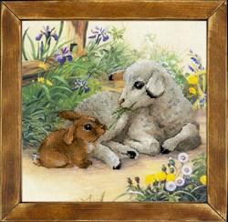 Набор для вышивания  Ягненок и кролик - фото 22777