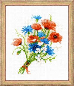 Набор для вышивания  Букетик с васильками - фото 22797