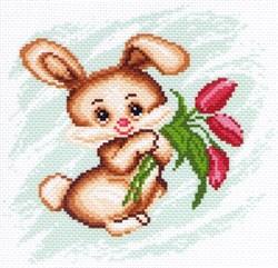 Рисунок на канве  Зайка - фото 24346