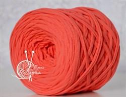 Пряжа  Лента  цвет коралл - фото 24373
