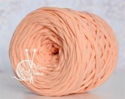 Пряжа  Лента  цвет персик - фото 24387