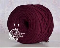 Пряжа  Лента  цвет марсала - фото 24406